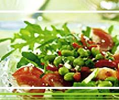 Rucola Salat mit Sojabohnen