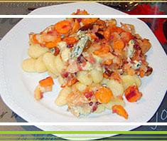 Gnocchi mit Apfel-Karotten-Gorgonzolasauce
