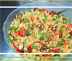 erfrischender Couscous-Salat mit Minze (Tabouleh)