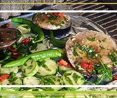 Geegrilltes Sommergemüse mit scharfer Chili-Knoblauch-Marinade