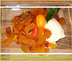 exotisches Mango-Chili-Ragout