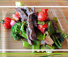 Sesam-Rindfleisch aus dem Wok | Rezept