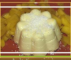 Exotisches Dessert: Kokospudding