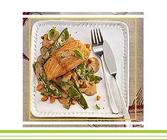 Lachs mit Gemüse | Rezept