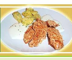 Putenstreifen in Cornflakespanier | Rezept