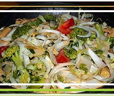 Gemüse Wok (hot)   Rezept