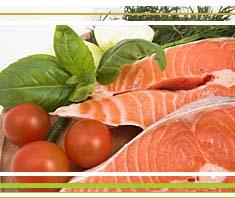 Frischer Fisch: Seelachs auf Fenchel-Tomaten-Reis