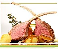 Rezept: Lammkoteletts klassisch mit Knoblauch und Rosmarinerdäpfeln