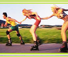 gesunde Bewegung auf Rollen: Skaten