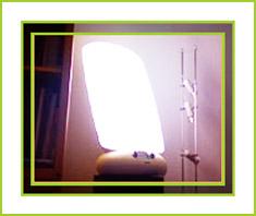 Tageslichtlampe im Einsatz