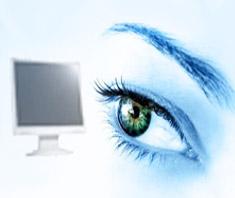 PC-Monitore und Fernseher sind eine Belastung für die Augen